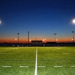Outdoor Turf Fields Under the Lights